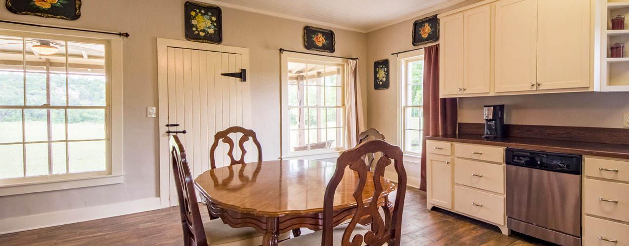 Cottonwood Kitchen, a Hunting Cottage in Pipe Creek Texas