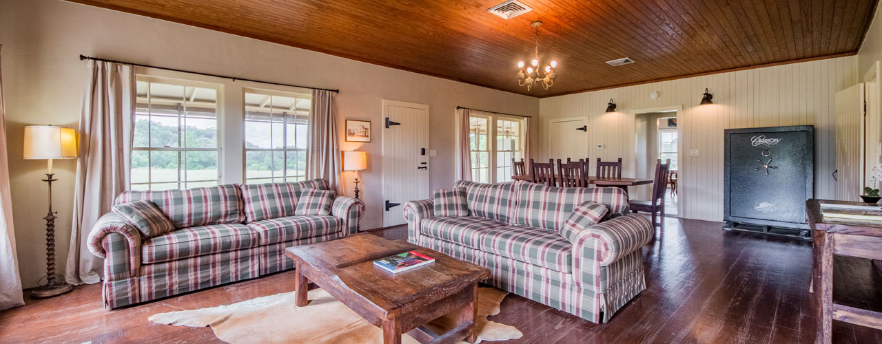 Cottonwood Living Room, a Hunting Cottage in Pipe Creek Texas