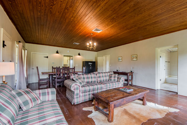 Cottonwood Lodge Living Room, Pipe Creek, Texas