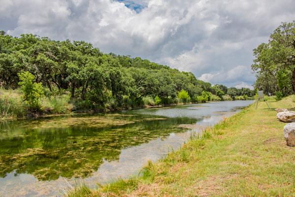 Creek and Hunting Lodge at Rancho Madrono