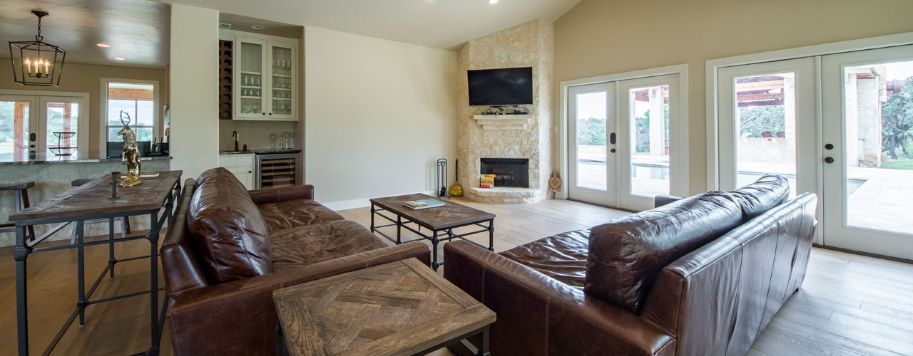 Living Room with Fireplace in Main Cottage