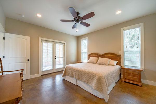 Master Bedroom off Patio, Creek Cabin, Rancho Madrono