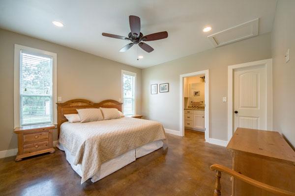 Master Bedroom with Bath at Creek Lodge, Rancho Madrono