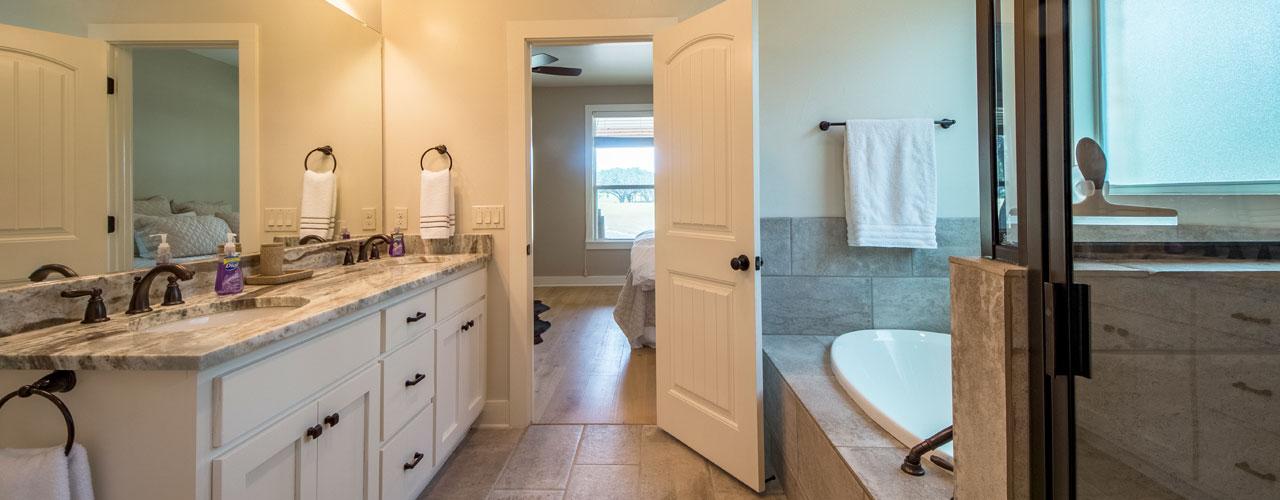 Master Bathroom with Jacuzzi at Rancho Madrono, Texas