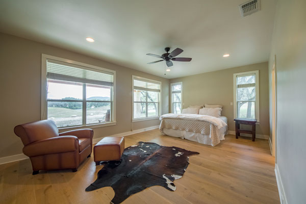 Master Bedroom of the Main Lodge at Rancho Madrono, a Texas Vacation Home