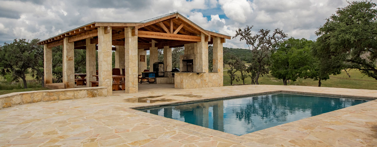 Pool by Event Pavillion at Rancho Madrono, TX