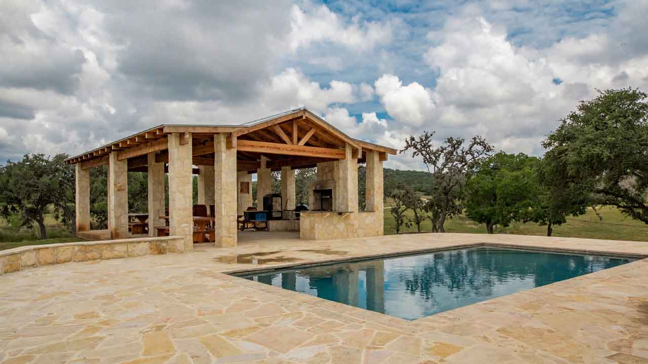 Pool and Pavilion at Rancho Madrono
