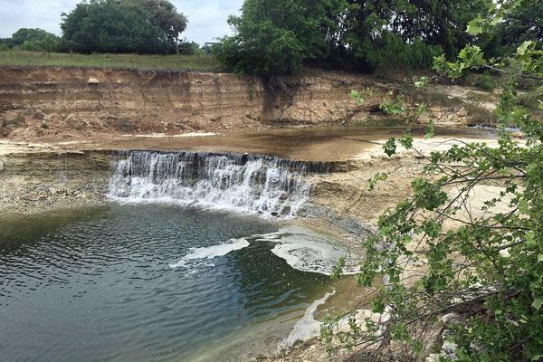 Falls in Pipe Creek near Rancho Madrono