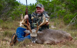 Client with huge whitetail buck