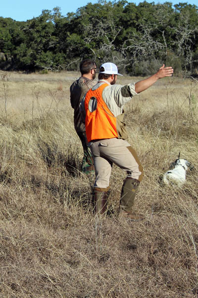 Hand Signals from Outfitter on Pheasant Hunt
