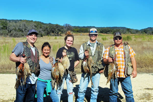 Pheasant Hunts in Texas Hill Country