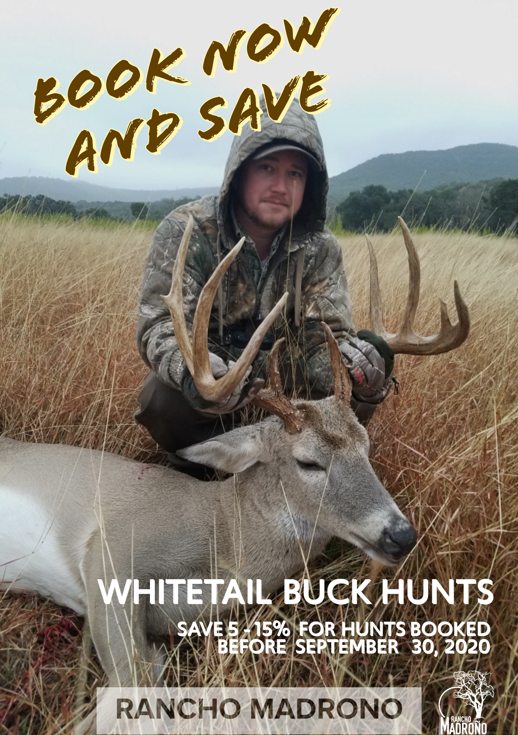 Book Early and Save on a Whitetail Buck Hunt in the Texas Hill Country