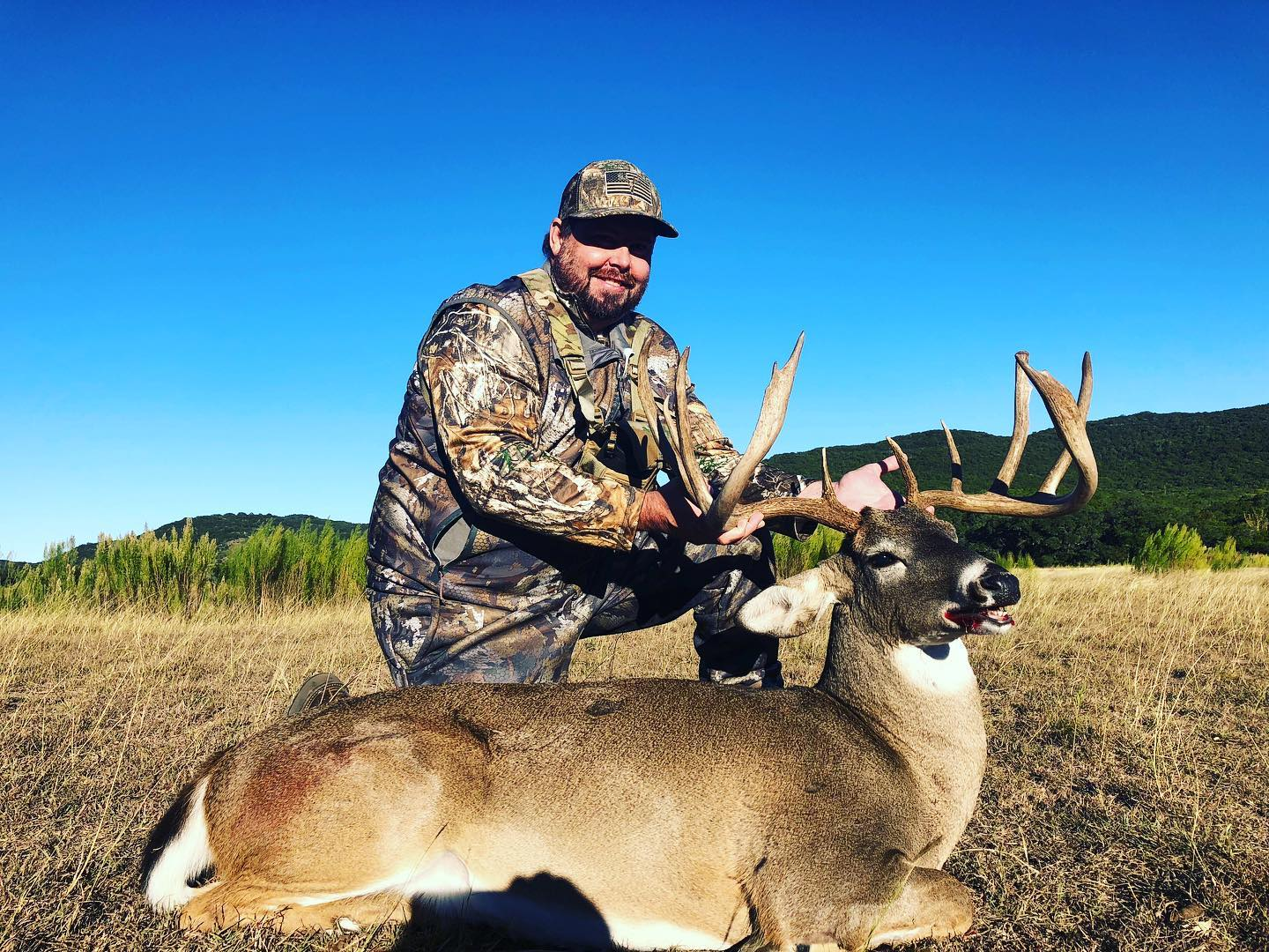 Rick With a Big Whitetail Buck