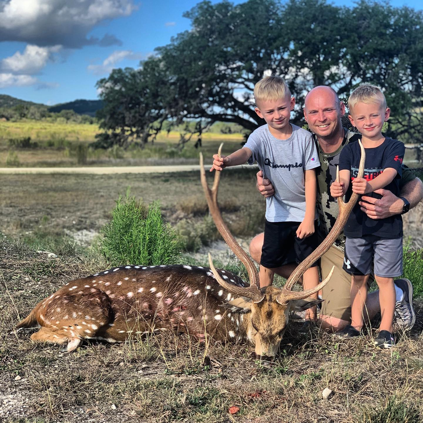 Axis Hunts with Family