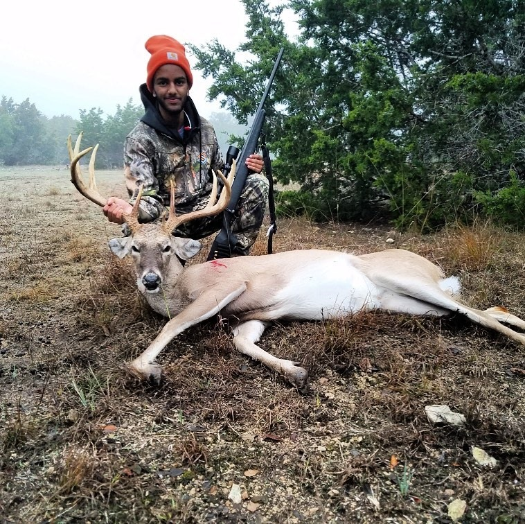 """Umer N. with a Nice 135"""" 10-Point Whitetail"""